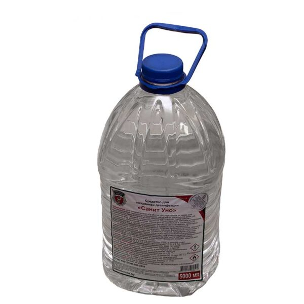 Спиртовой кожный антисептик «СанитУно» - 5 литров