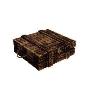 Деревянный ящик (малый) для подарка с крышкой, хранения, декора интерьера, основа для подарка